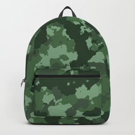Classic green camo design. Backpack