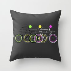 Olympic Posters - Cycle  Throw Pillow