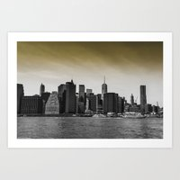 manhattan Art Prints featuring Manhattan by Forand Photography
