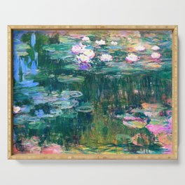 water lilies : Monet Serving Tray