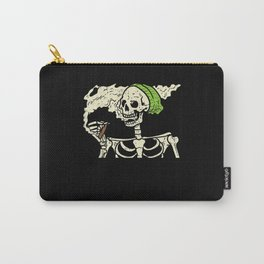 Smoking Skeleton Joint Funny Weed Pot 420 Cannabis Carry-All Pouch