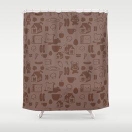 SHANHAIJING-BreadBear-HAI (GoodMorningHAI) Shower Curtain