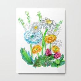 dandelion blowballs Metal Print