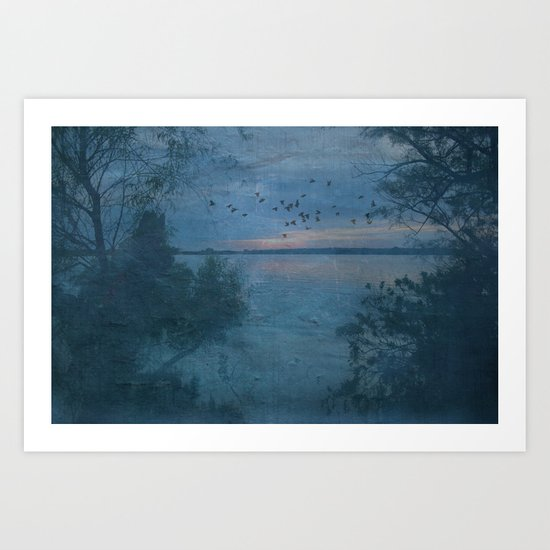 Dusk at the Lake Art Print