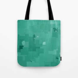 Lucite Green Square Pixel Color Accent Tote Bag