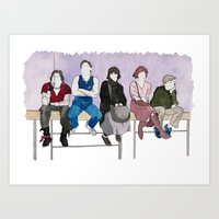 breakfast club Art Prints featuring The Breakfast Club by DJayK