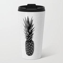 Pineapple Black & White Travel Mug