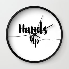 Hands up Wall Clock