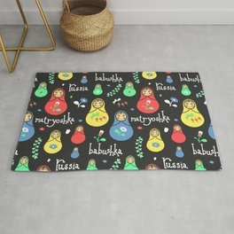 Traditional russian dolls Rug