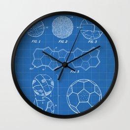 Soccer Ball Patent - Football Art - Blueprint Wall Clock