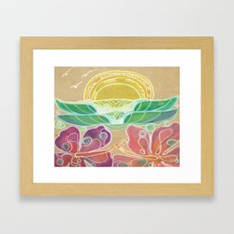 Double Hibiscus Surf Art by Lauren Tannehill Art Framed Art Print