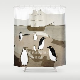 Guests arrive 13 Shower Curtain