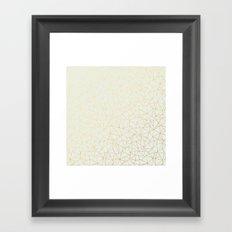 Geo Gold Framed Art Print