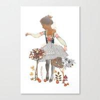 fairy tale Canvas Prints featuring Fairy tale by jenn l