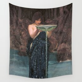 Circe Invidiosa - John William Waterhouse Wall Tapestry