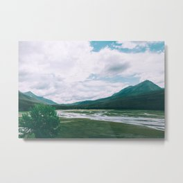Medicine Lake, Jasper National Park Metal Print