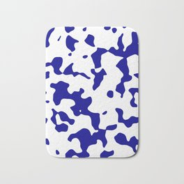 Large Spots - White and Dark Blue Bath Mat