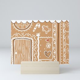 Gingerbread house Mini Art Print