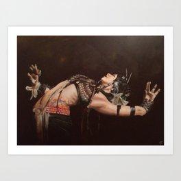 TRAVELERS DANCE  Art Print