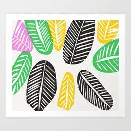 Summer Leaves Art Print