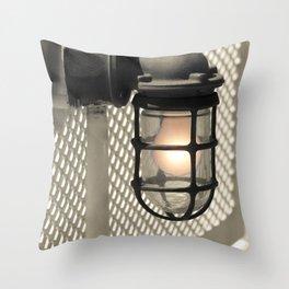 Deck Light Throw Pillow