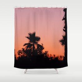 Palm Trees on Purple Shower Curtain