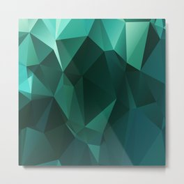 Polygon Heritage Green Metal Print