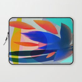 Shapes and Layers no.14 - leaves grid flames sun Laptop Sleeve