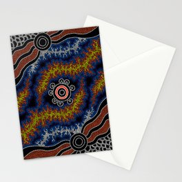 The Heart of Fire - Authentic Aboriginal Art Stationery Cards