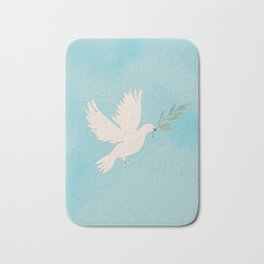 Dove of Peace with Olive Branch Bath Mat