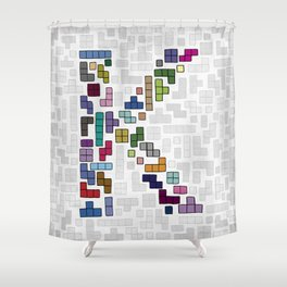 letter k - gaming blocks Shower Curtain