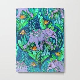 Little Elephant on a Jungle Adventure Metal Print