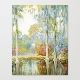 Alfred Hutty - Magnolia Gardens, 1920 Canvas Print
