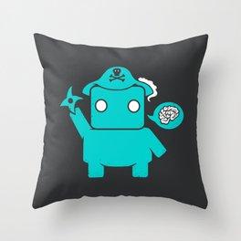 Ninja Pirate Robot Zombie Throw Pillow