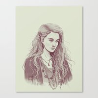 luna lovegood Canvas Prints featuring Luna Lovegood by aqvarelles