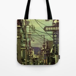 Wired City Tote Bag