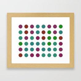 Crazy Dots Framed Art Print