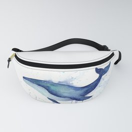 Whale Galaxy Watercolor Fanny Pack