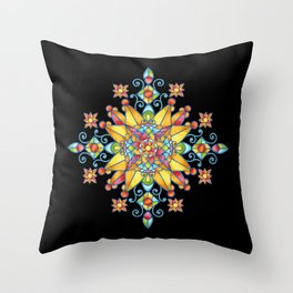 Alhambra Stained Glass Throw Pillow