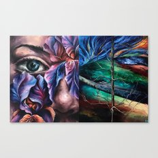Painting Collage Canvas Print