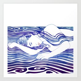 Water Nymph XXX Art Print