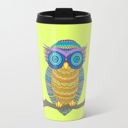 Henna Owl Travel Mug