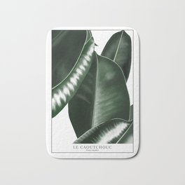 Big leaves white Bath Mat
