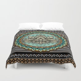 Lotus Mandala Pattern Duvet Cover