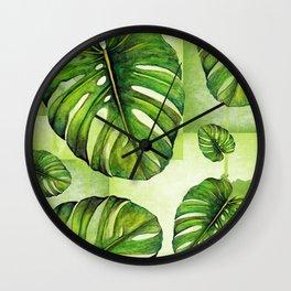 Monstera deliciosa I Wall Clock