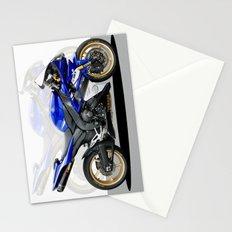 Yamaha R1 blue Stationery Cards