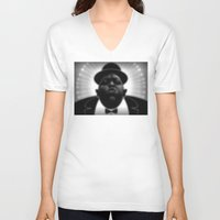 biggie V-neck T-shirts featuring BIGGIE  by Robdraw
