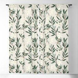 OLIVE BLOOM Blackout Curtain