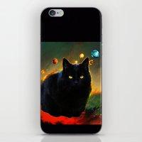 black cat iPhone & iPod Skins featuring black cat by ururuty