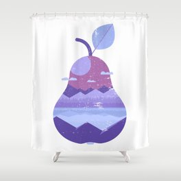 Vintage Panorama Pear Shower Curtain